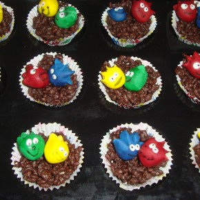 Rice Krispie Puffle Nests