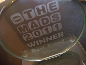 MAD Blog Award best food blog