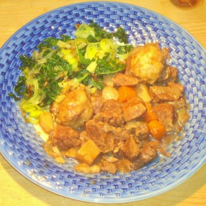 Beef and shallot casserole