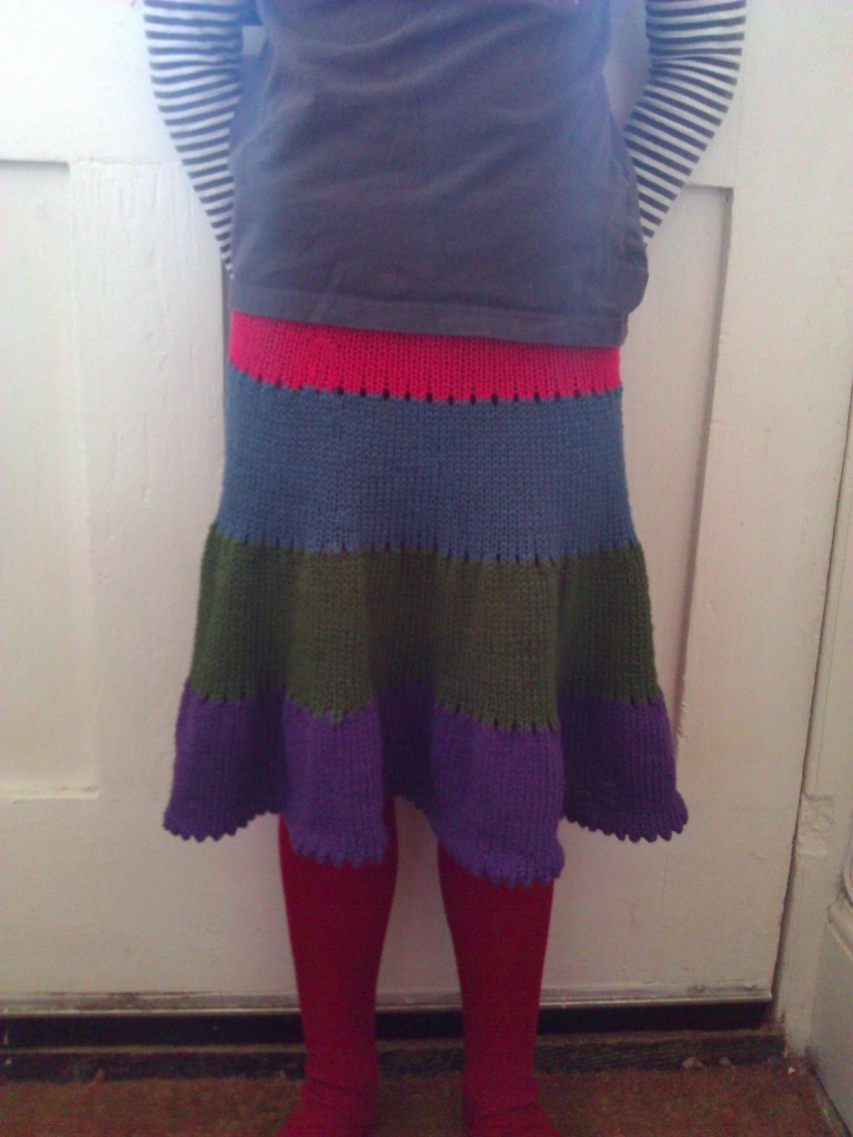 grace's knitted skirt