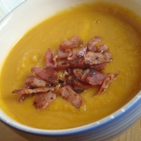 Sweet potato, parsnip and ginger soup