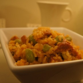 Chorizo and broad bean risotto and a chance to win in The Gourmet Garden Blog Off / Cook Off