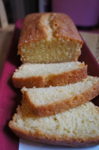 Lemon and ginger loaf cake