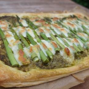 National Vegetarian Week and an asparagus, mozzarella and pesto tart